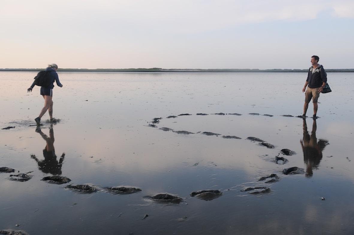 Walking in the mud in Wadden Sea
